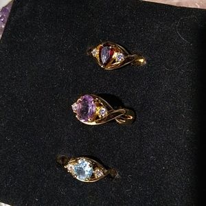 Choice of Cute Gemstone Rings -  Size 6